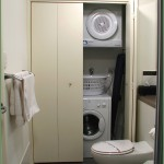 Laundry facilities conveniently located behind bi-fold doors